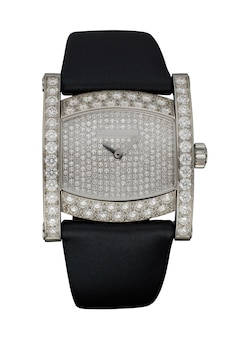Relógio feminino isolado no branco