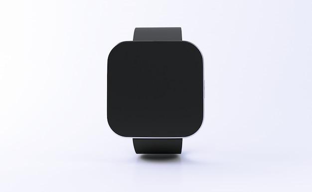 Relógio inteligente 3d com tela preta