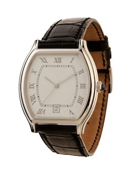 Relógio masculino isolado no branco