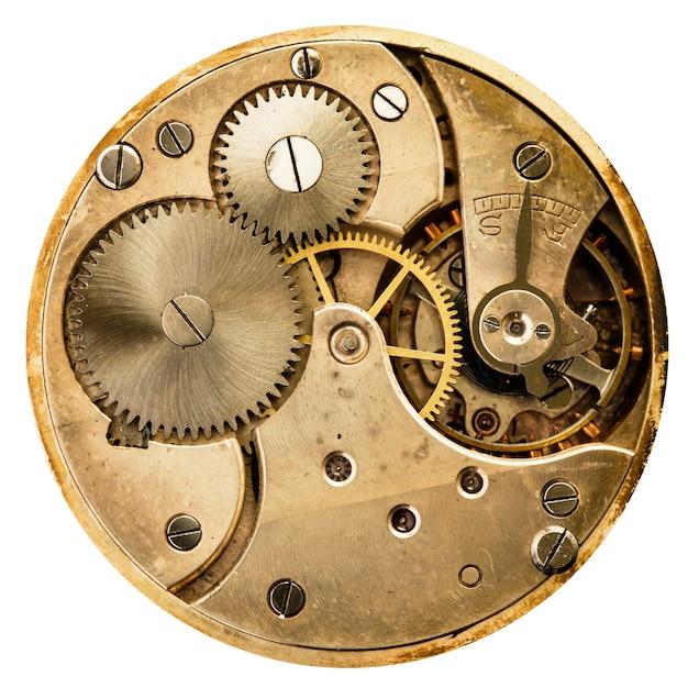Relógio mecânico antigo de alta resolução e detalhes