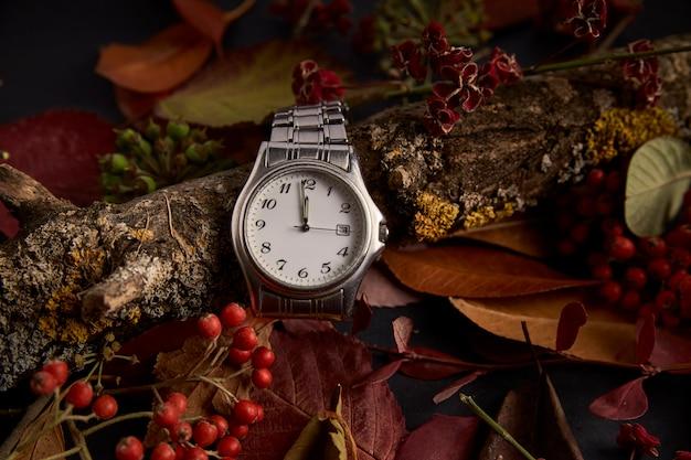 Relógio na ausência de um minuto para começar o novo ano de 2019