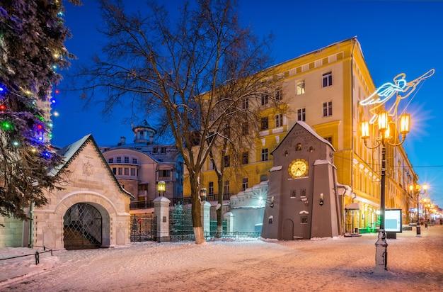 Relógio na rua bolshaya pokrovskaya em nizhny novgorod