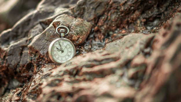 Relógio pendant on rock
