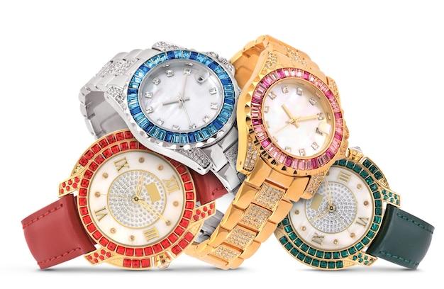 Relógios de luxo em branco