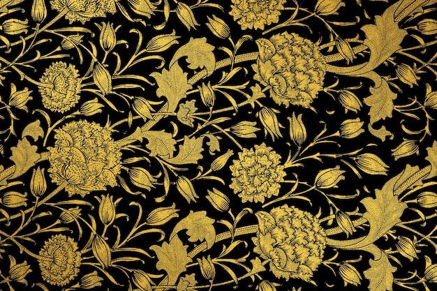 Remix de padrão de flor vintage de arte de william morris
