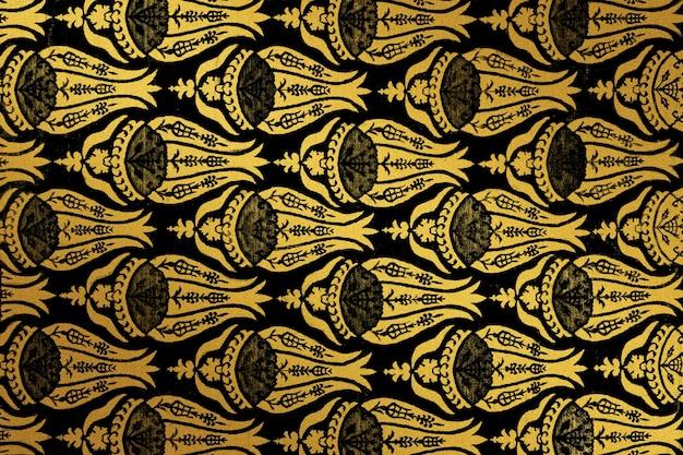 Remix de padrão de flor vintage de uma obra de arte de william morris