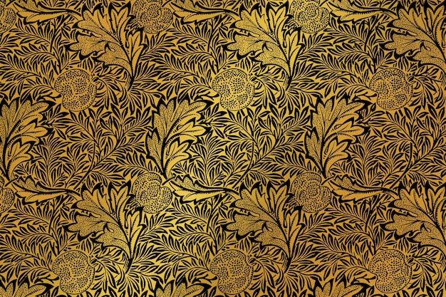 Remix de padrão floral luxuoso de obras de arte de william morris