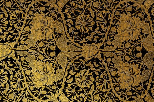 Remix de padrão floral vintage da arte de william morris
