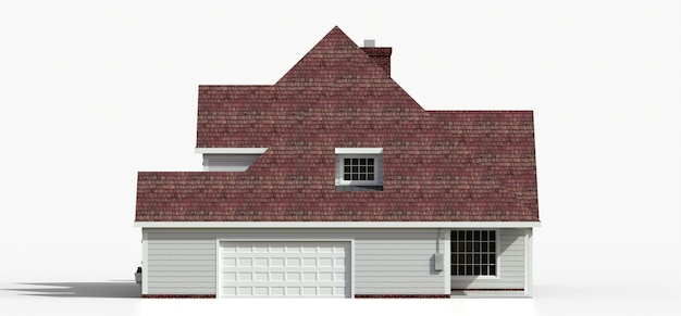 Renda de uma clássica casa de campo americana. ilustração 3d.