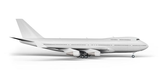 Render 3d do avião de passageiros