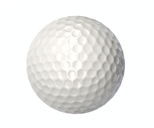 Render ou parede isolada da bola de golfe.