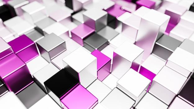 Renderização 3d abstrata cubesseamless background.