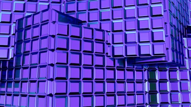 Renderização 3d abstrato azul