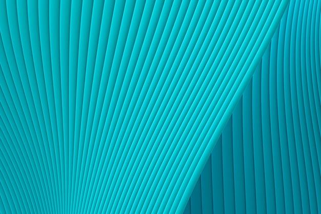 Renderização 3d, abstrato parede onda arquitetura mar verde fundo