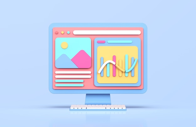Renderização 3d analítica de sites