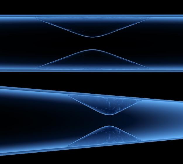 Renderização 3d aterosclerose por raio-x com colesterol, sangue ou placa no vaso, causa de doença arterial coronariana