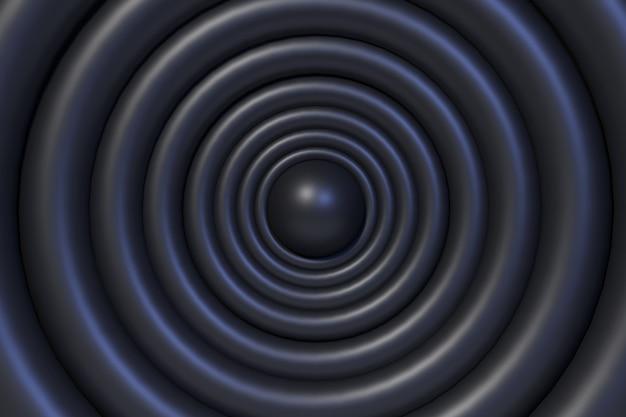 Renderização 3d backround sircle black.2