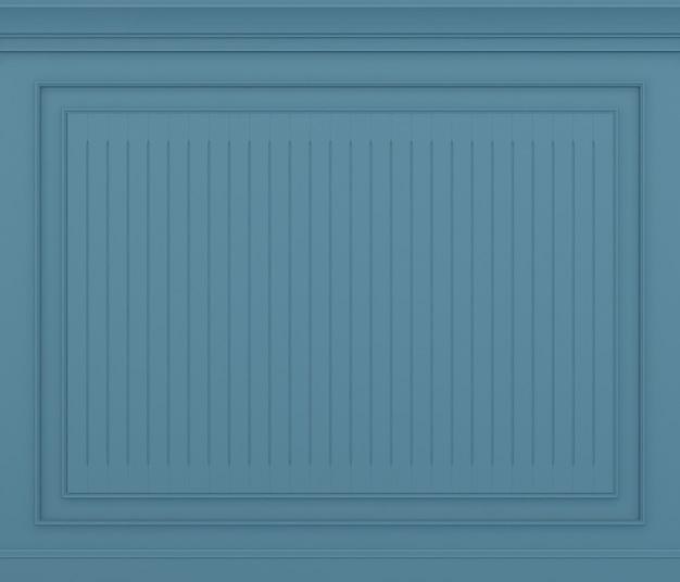 Renderização 3d clássica da parede azul