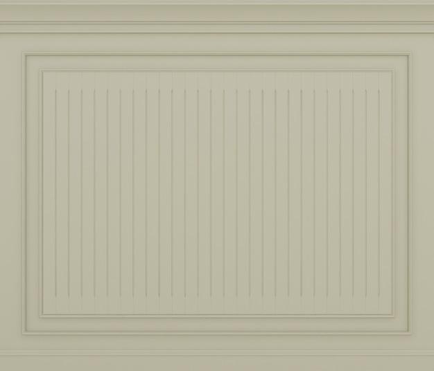 Renderização 3d clássica da parede creme
