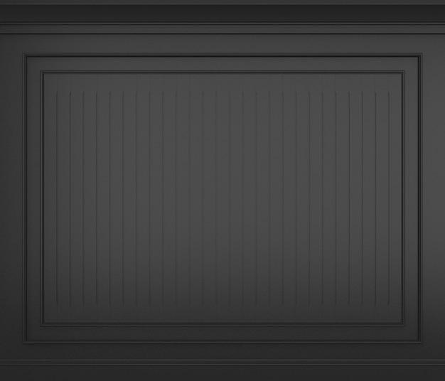 Renderização 3d clássica da parede preta