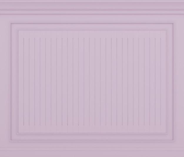 Renderização 3d clássica da parede rosa