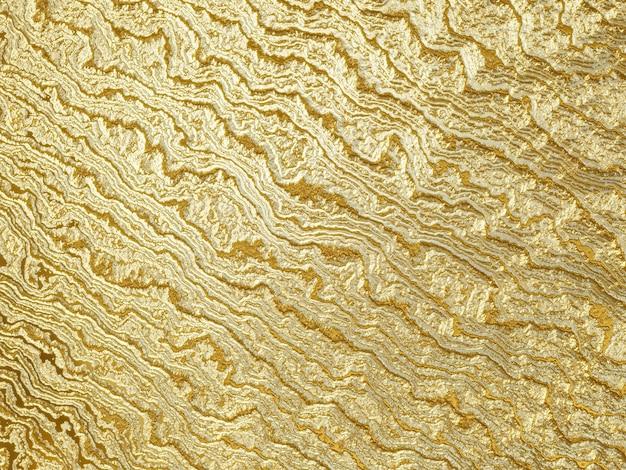 Renderização 3d com fundo dourado abstrato