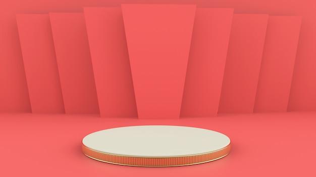 Renderização 3d com pódio para apresentação do produto