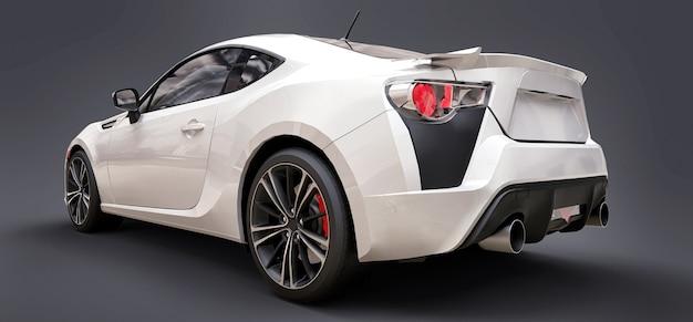 Renderização 3d cupê de carro esportivo pequeno branco