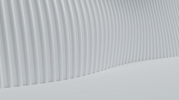 Renderização 3d curva abstrata de fundo branco claro