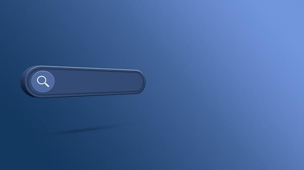 Renderização 3d da barra de pesquisa em branco