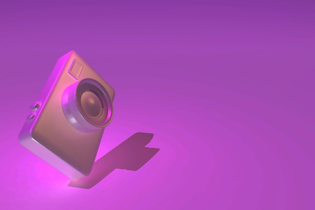 Renderização 3d da câmera
