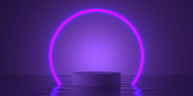 Renderização 3d da composição abstrata para apresentação do produto