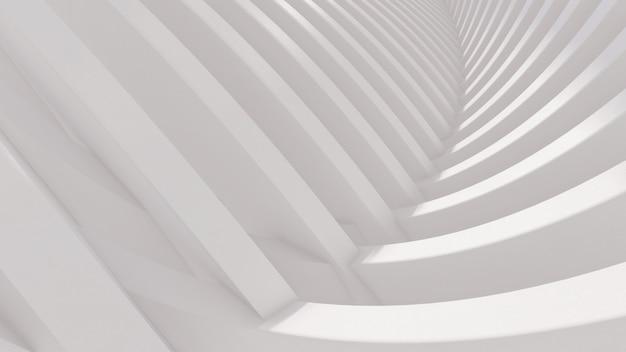 Renderização 3d da ilustração da estrutura exterior