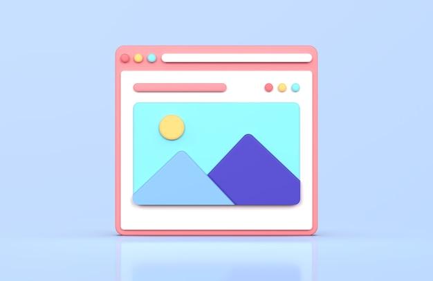 Renderização 3d da interface da web