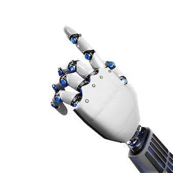 Renderização 3d da mão do robô futurista indicando