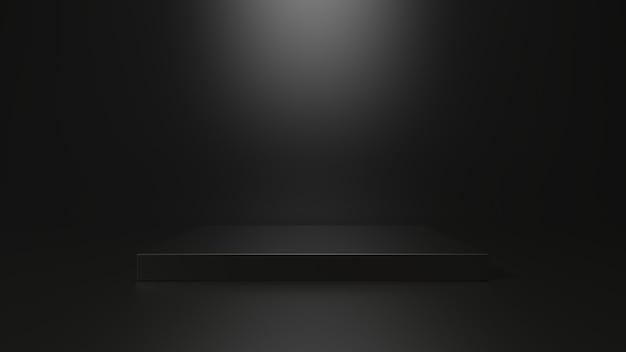 Renderização 3d da plataforma cúbica