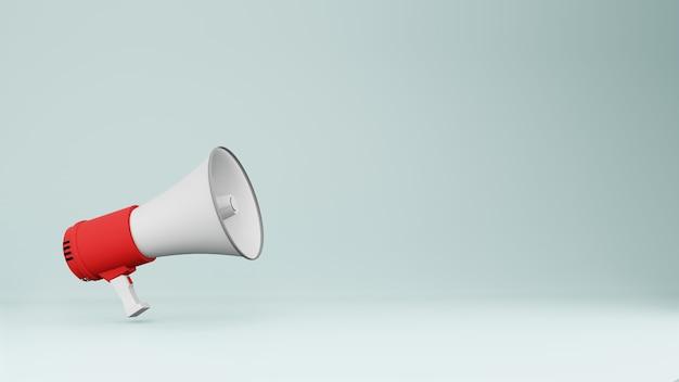 Renderização 3d de alto-falante megafone