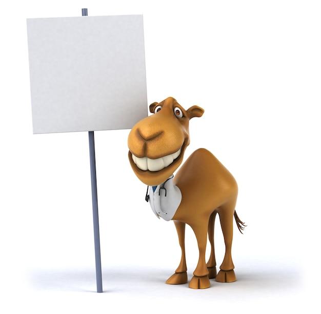 Renderização 3d de camelo