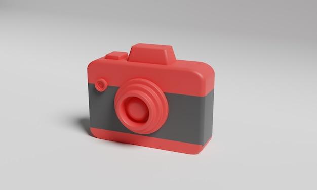 Renderização 3d de câmera low poly