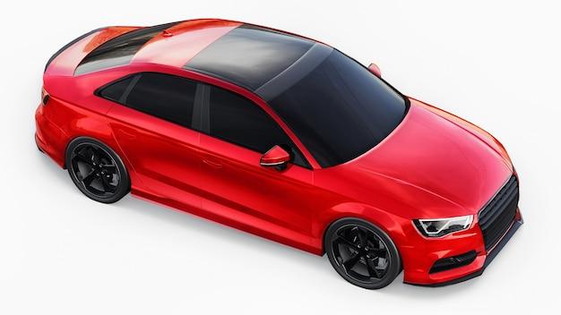 Renderização 3d de carro esporte super rápido