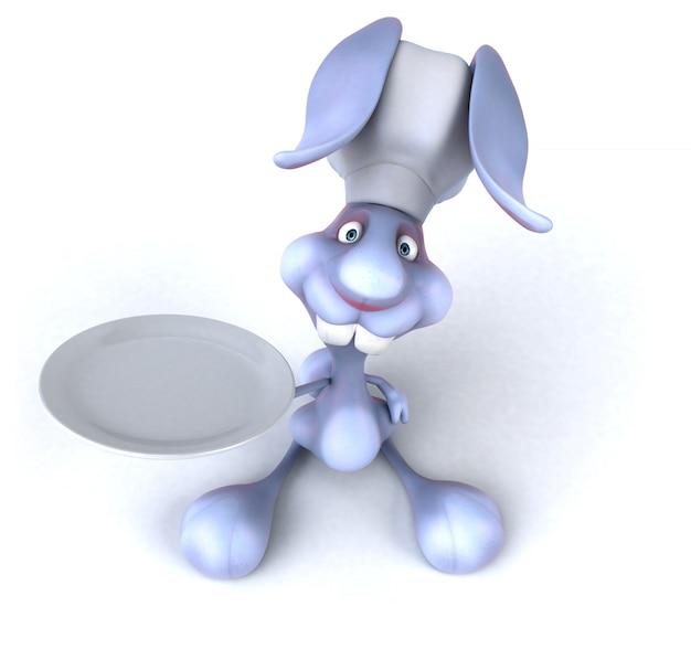 Renderização 3d de coelho engraçado