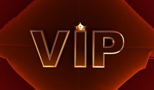 Renderização 3d de coroa de ouro vip, coroa de ouro royal vip no travesseiro, coroa vip