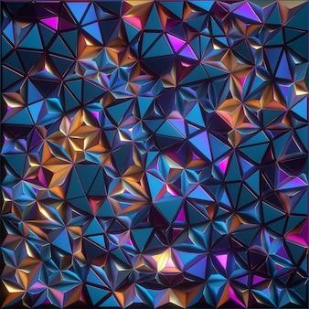 Renderização 3d de cristais facetados abstratos