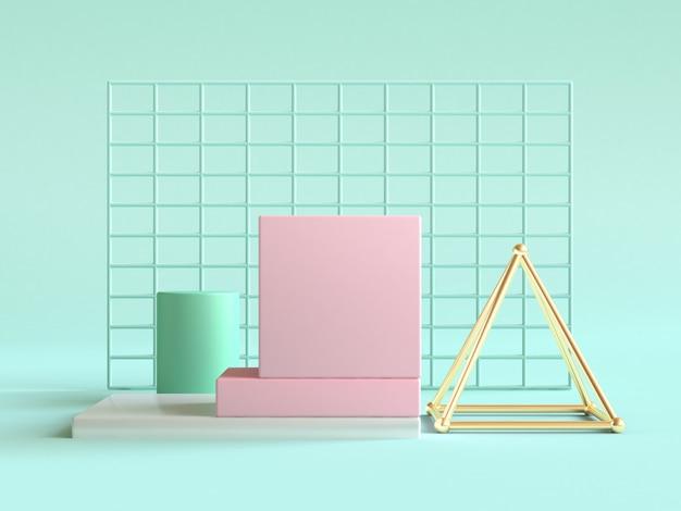 Renderização 3d de diferentes figuras geométricas