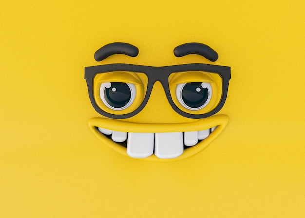 Renderização 3d de emoções Foto gratuita