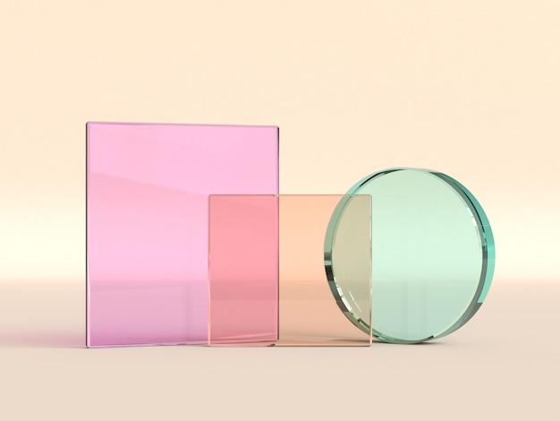 Renderização 3d de forma geométrica clara