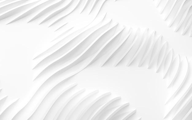Renderização 3d de formas curvas abstratas