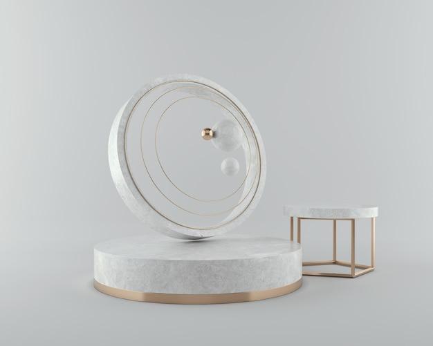 Renderização 3d de formas geométricas para apresentação ou exibição do produto.