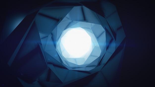 Renderização 3d de fundo circular minimalista abstrata