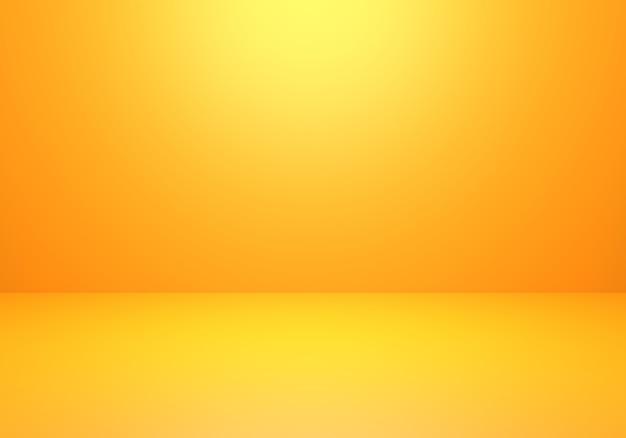 Renderização 3d de fundo de conceito mínimo abstrato laranja vazio